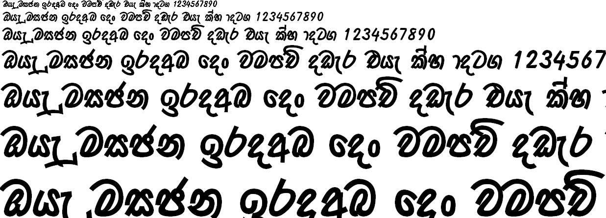 0kdbolidda Bold Sinhala Font