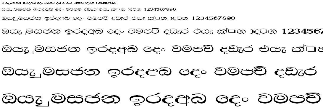 0Kdmanel Sinhala Font