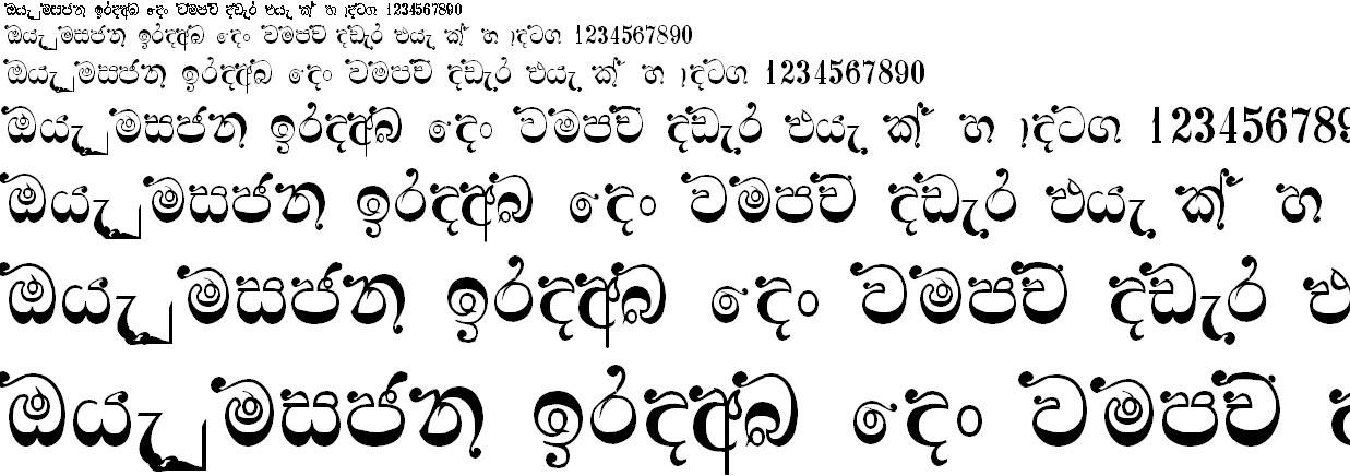 0Kdrose Sinhala Font