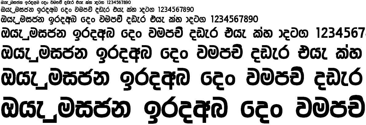 4u Ananda UltraBold Sinhala Font