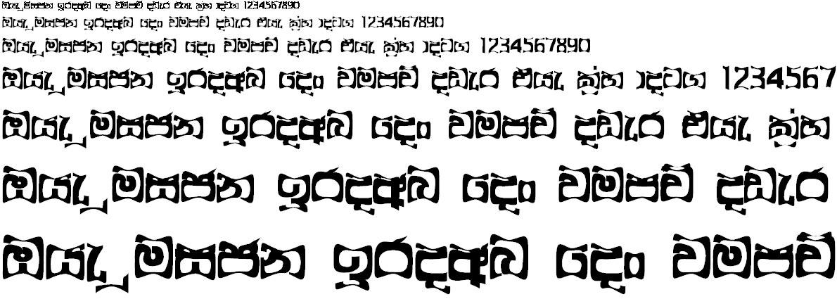 4u Araliya Wrap Sinhala Font