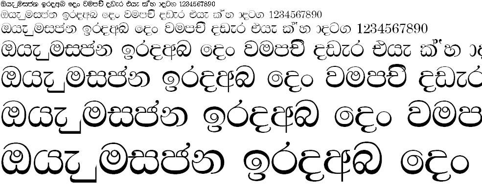 4u Bindumathi Sinhala Font