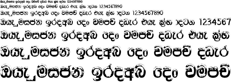 4u Ice Sinhala Font