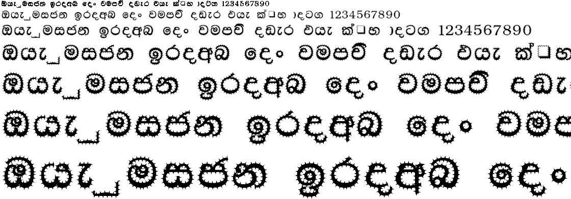 4u Madu Cactus Sinhala Font