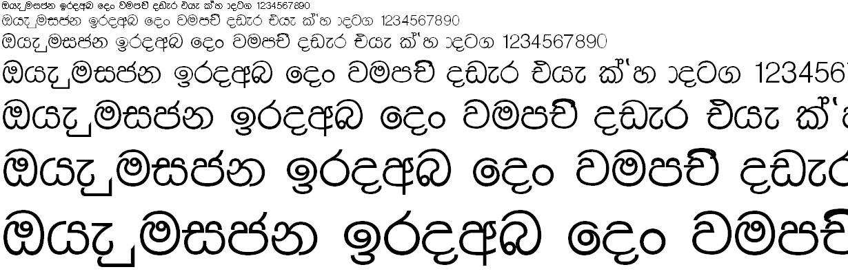 4u Malith Sinhala Font