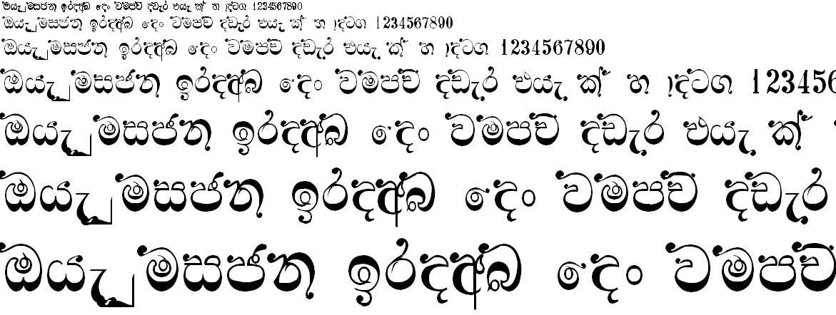 4u Manel Sinhala Font