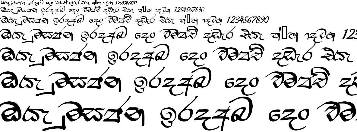 4u Nadeesha Sinhala Font