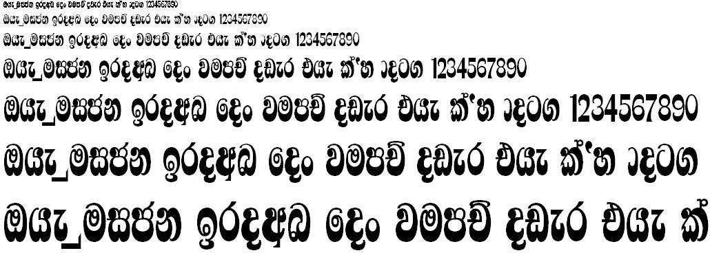 4u Rajantha Sinhala Font