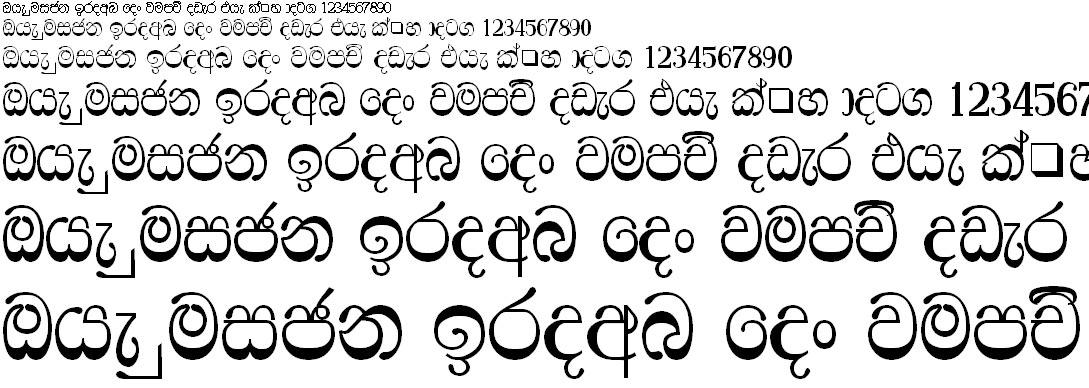 4u Ridhma Sinhala Font