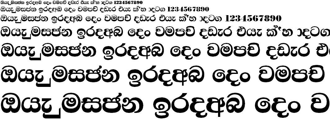 4u Samantha Sinhala Font
