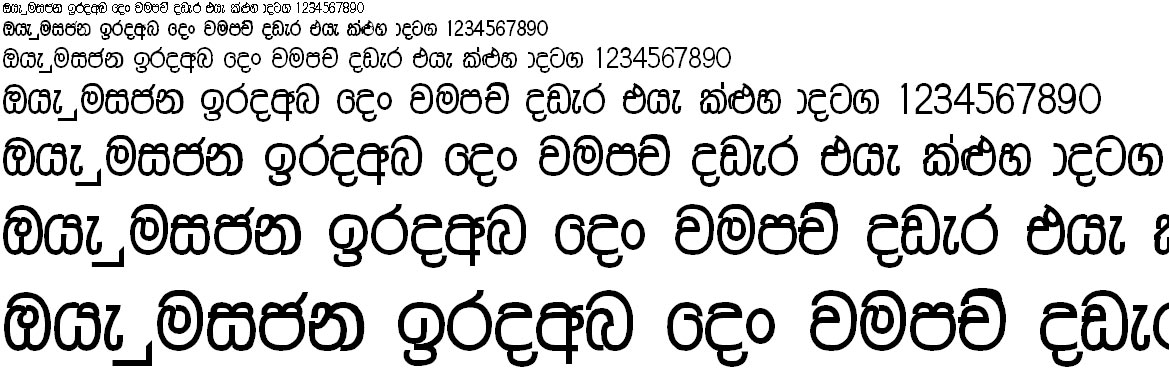 A Malathi Sinhala Font