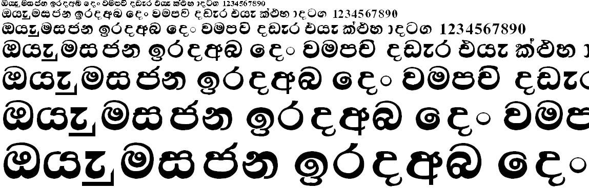 A Sanath Sinhala Font