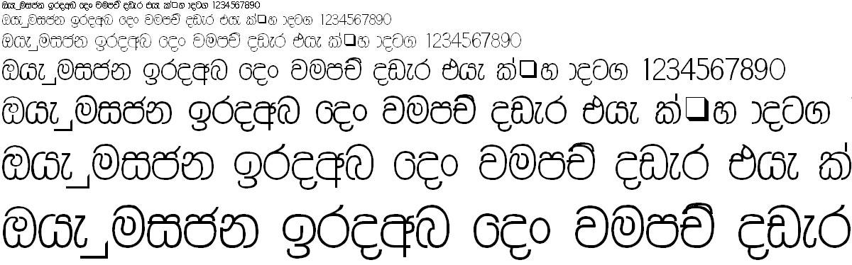 AM Amalee Thin Sinhala Font