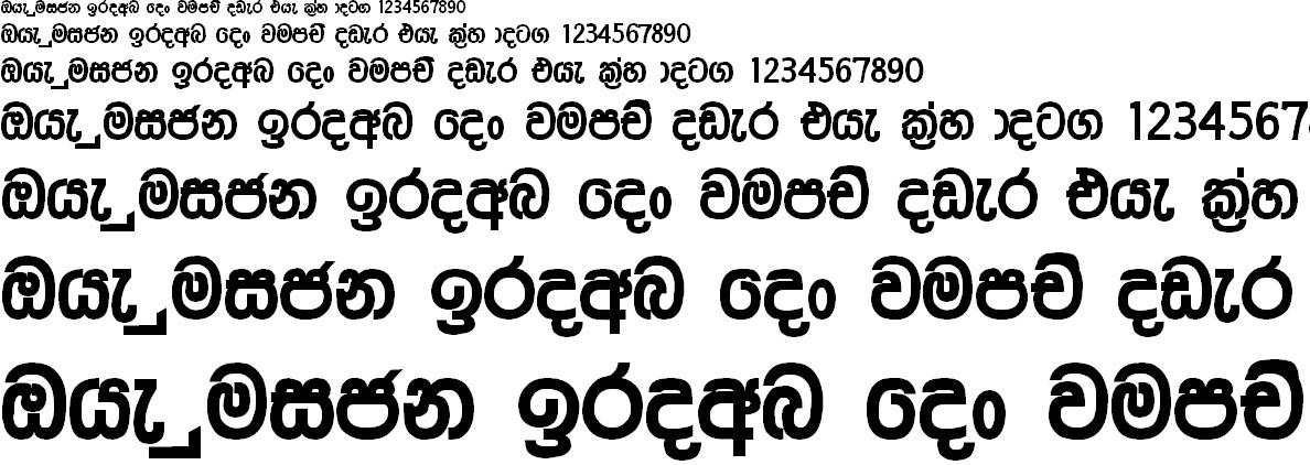 AM Araliya Bold Sinhala Font