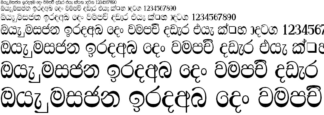Br Ridhma Sinhala Font