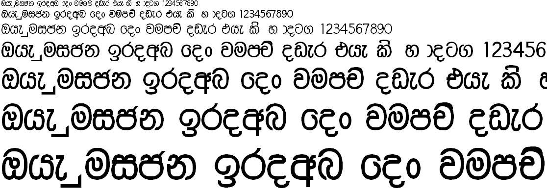 Chamara Normal Sinhala Font