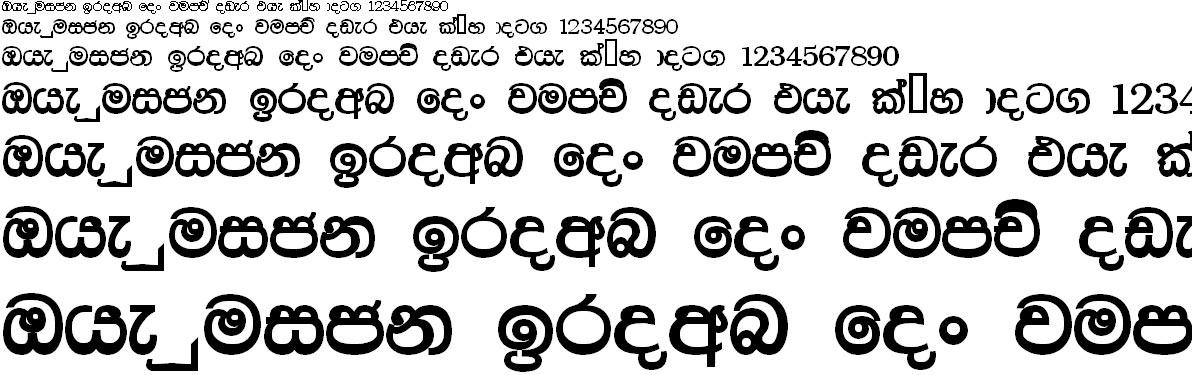 Dimuthu Bold Sinhala Font