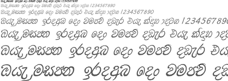 DS Daya D Stripe Sinhala Font