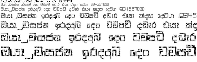 Ds Gajaba A Stripe Sinhala Font