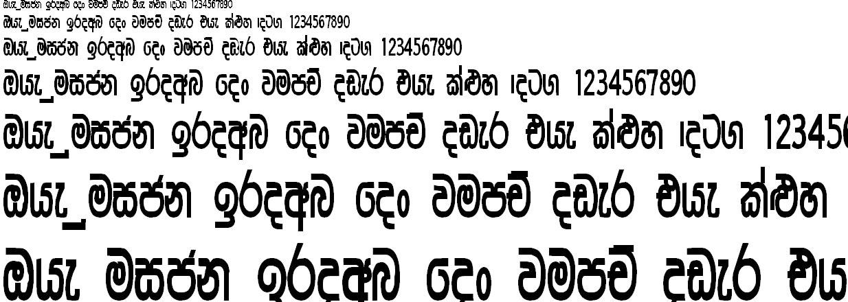 DL Dulackshi Sinhala Font