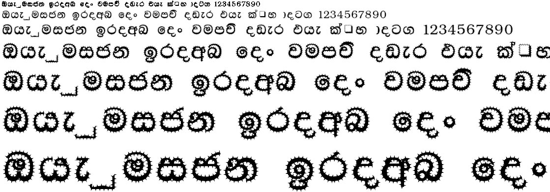 DL Madu Cactus Sinhala Font