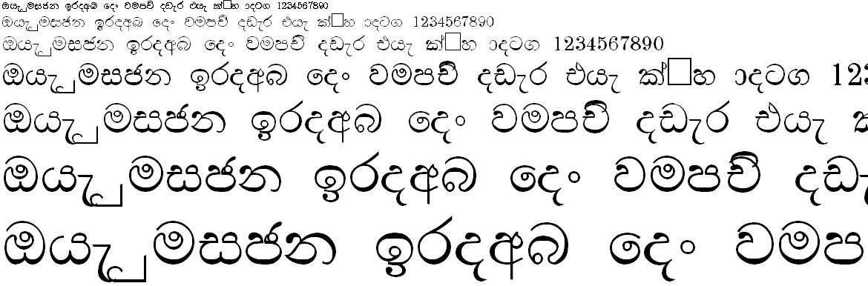 DL Manel Bold Sinhala Font