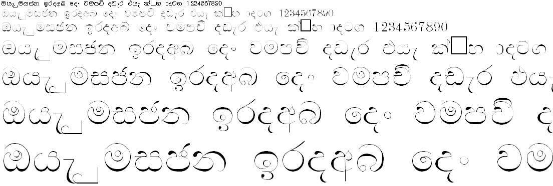 DL Manel Sinhala Font