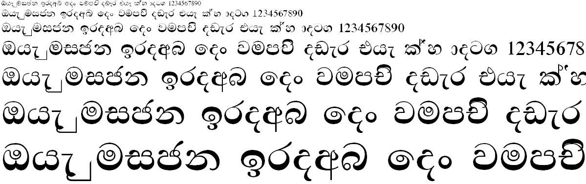 FM Ababld Bold Sinhala Font