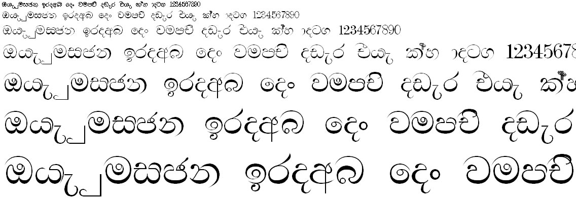 SU Sewandi Sinhala Font