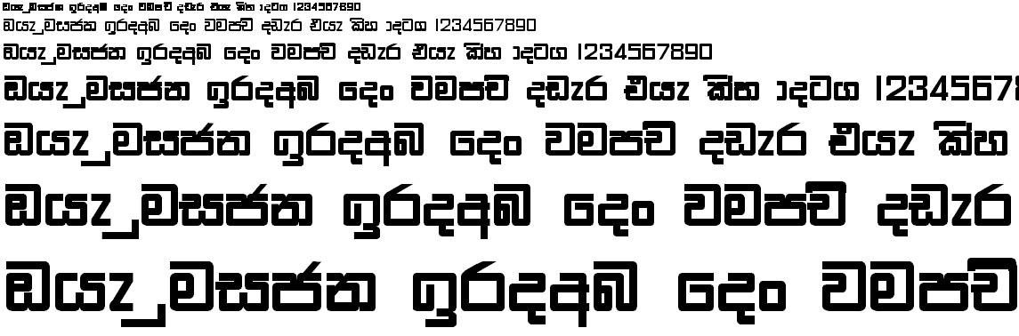 Wije 4 Square Bold Sinhala Font