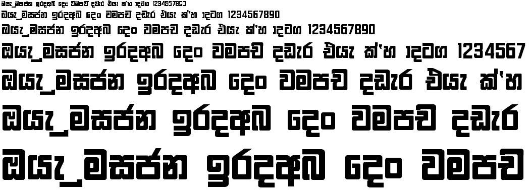FM Gemunu X Sinhala Font