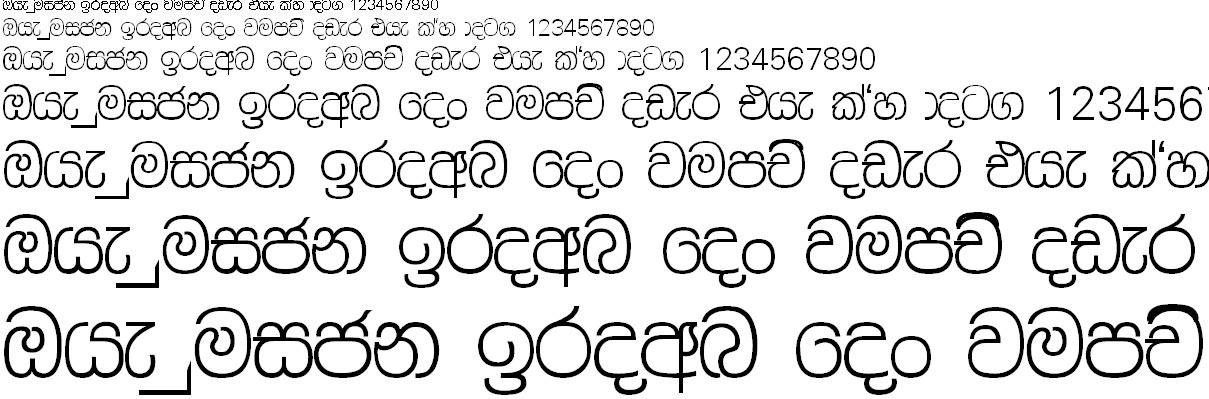 FM Rashmee X Sinhala Font