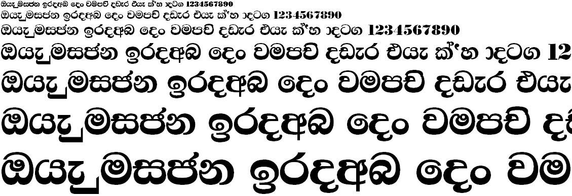 FM Samantha X Sinhala Font