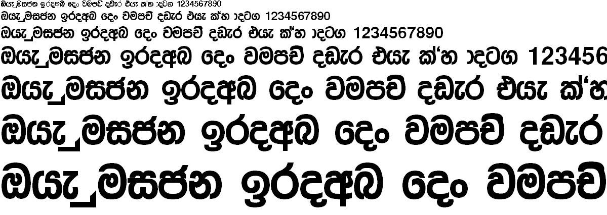 FM Sandhyanee X Sinhala Font