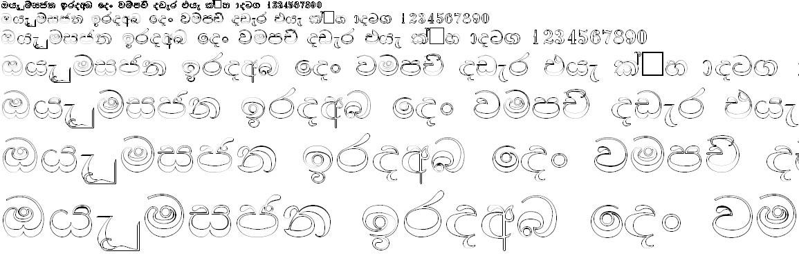 FS Kapila Sinhala Font