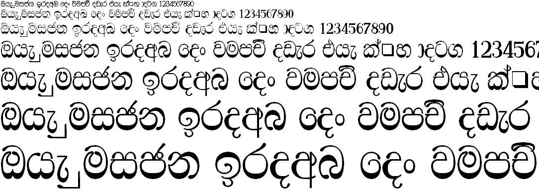 FS Ridhma Sinhala Font