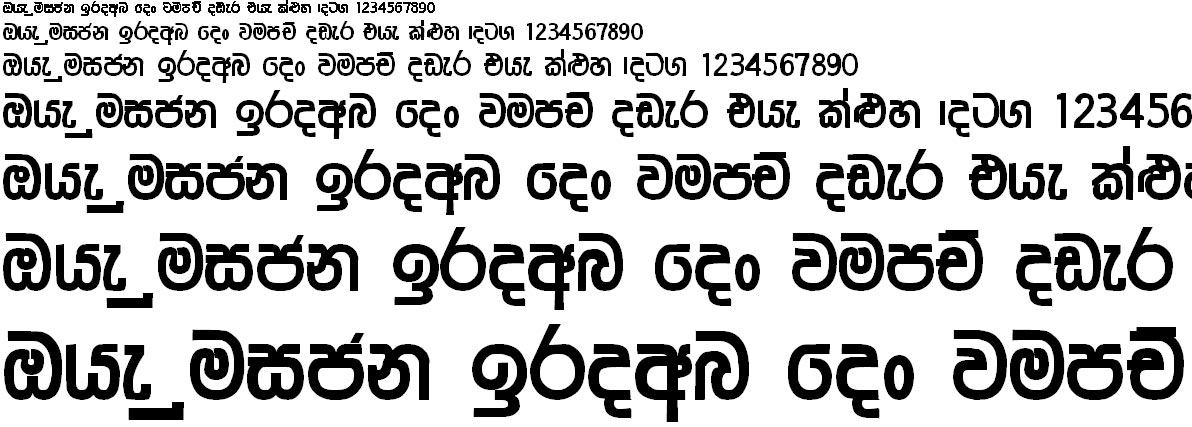 GS Nisansala Sinhala Font