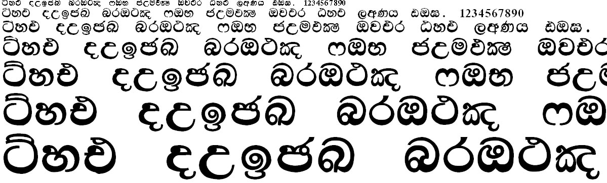 Kandy Supplement Sinhala Font