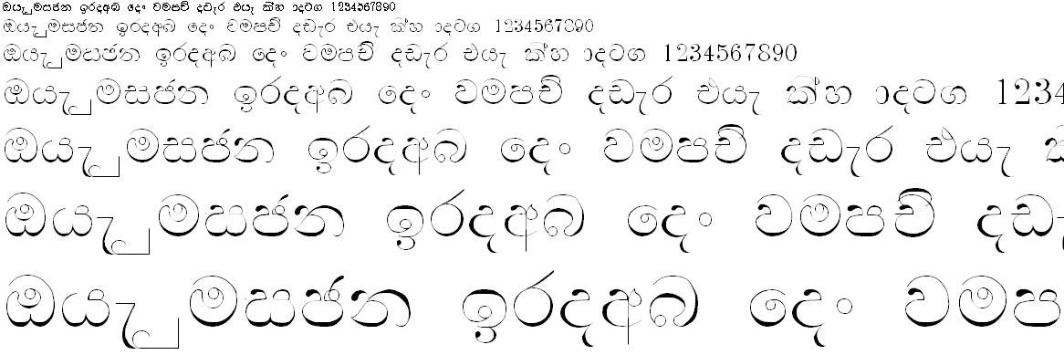 Manel Pc Sinhala Font