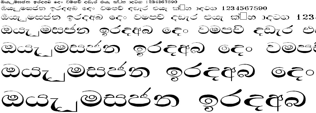 Mi Damindu Wide Sinhala Font