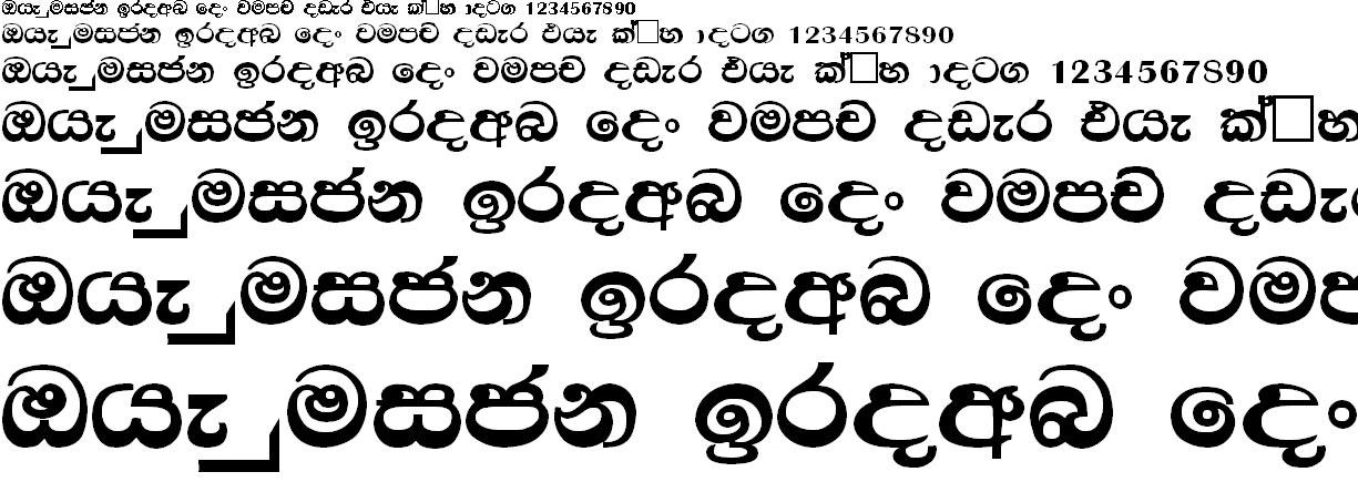 Mi Dasun 96 Sinhala Font