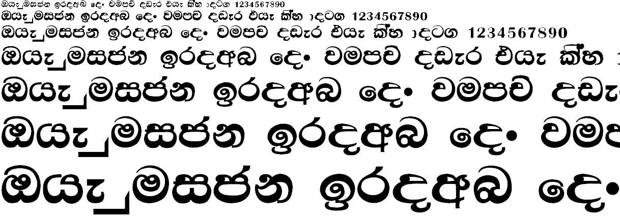Mi Dasun Sinhala Font