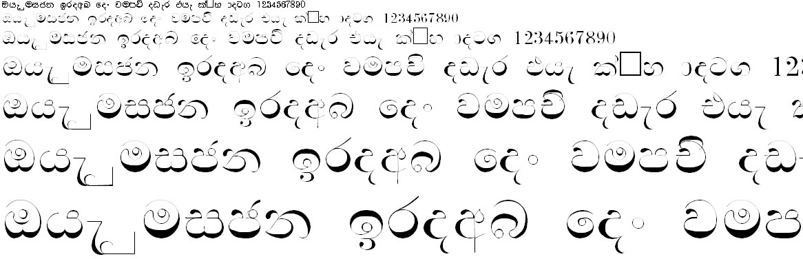 Nelika Sinhala Font