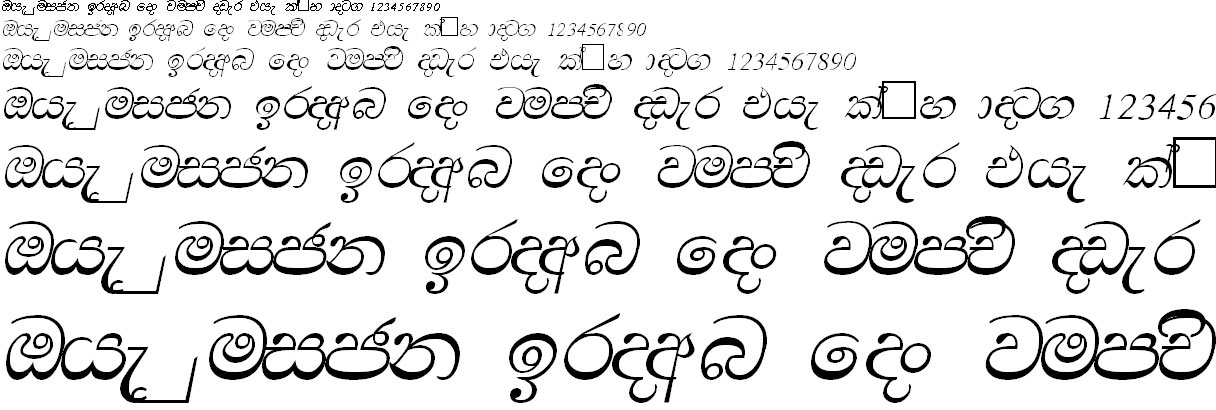 CPS 10 Sinhala Font