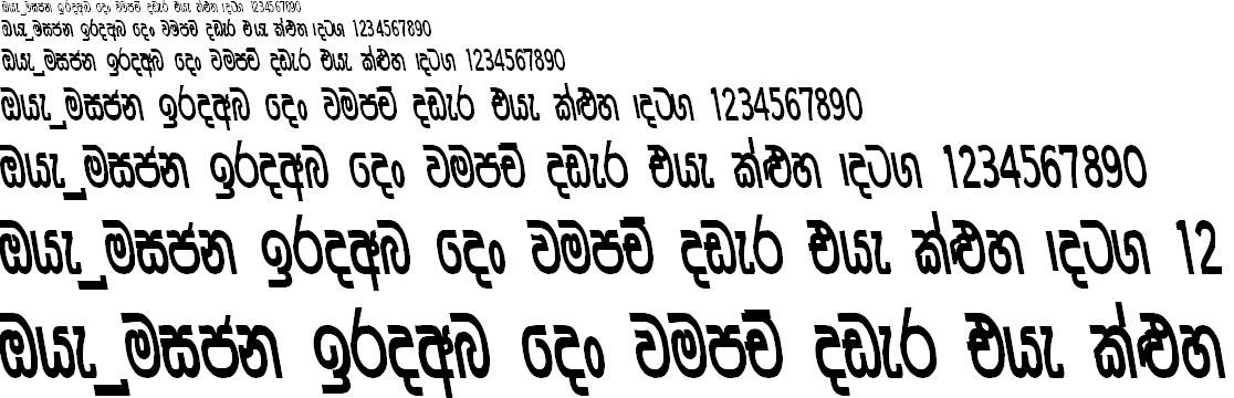 CPS 19 Sinhala Font