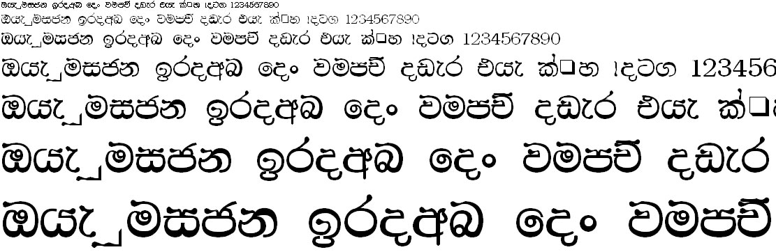 CPS 31 Sinhala Font