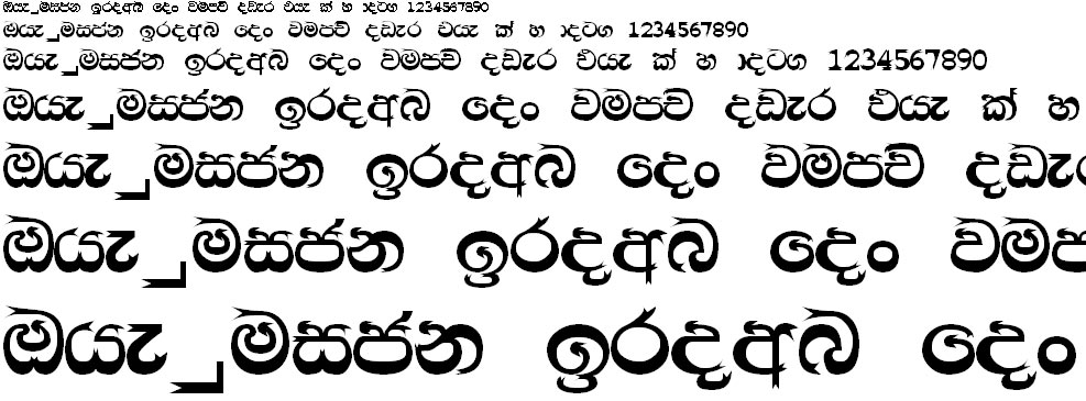 CPS 33 Sinhala Font