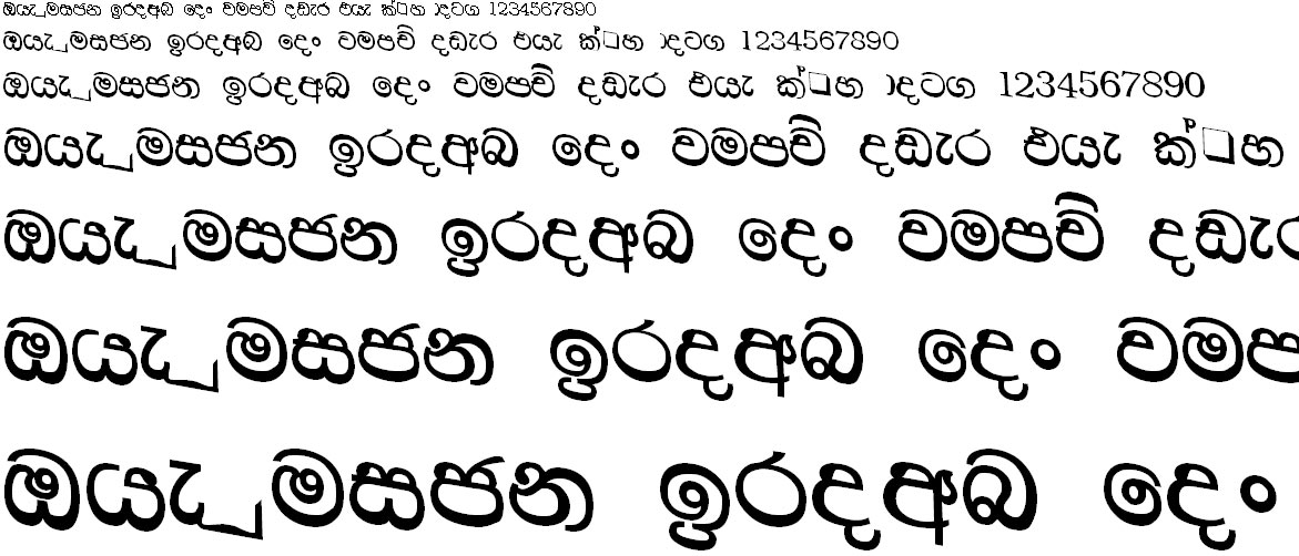 CPS 36 Sinhala Font