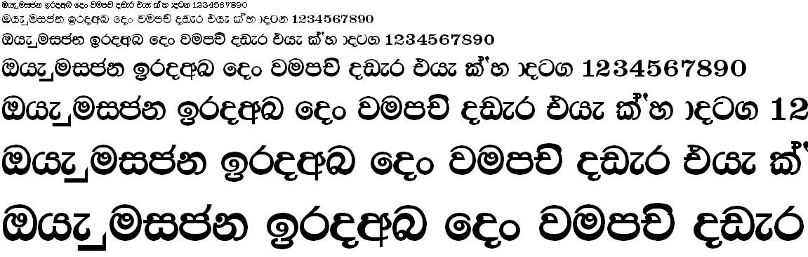 CPS 41 Sinhala Font
