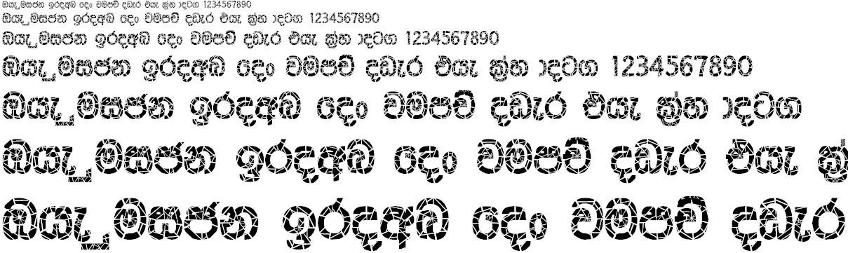 CPS 53 Sinhala Font